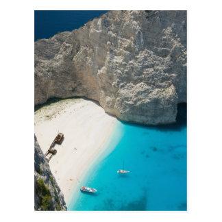 Cartão Postal PISCINA, ilhas Ionian, ZAKYNTHOS, SHIPWRECK