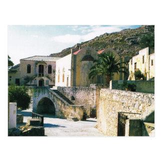 Cartão Postal Piscina, monastério ortodoxo grego de Preveli