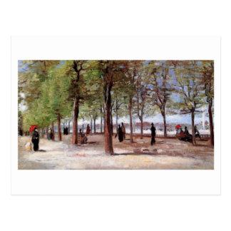 Cartão Postal Pista no Jardin du Luxembourg, Vincent van Gogh