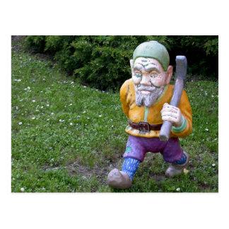 Cartão Postal Pitman idoso do gnomo do jardim