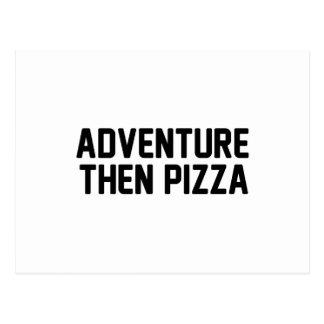 Cartão Postal Pizza da aventura então