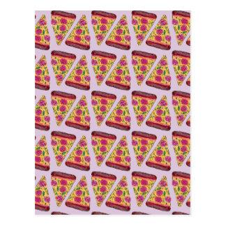 Cartão Postal pizza floral