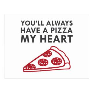 Cartão Postal Pizza meu coração