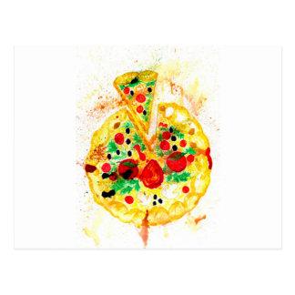 Cartão Postal Pizza saboroso