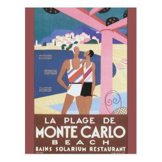 Cartão Postal Plage de Monte do La - cargo das viagens vintage