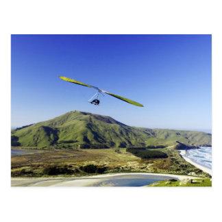 Cartão Postal Planador de cair, península de Otago, perto de