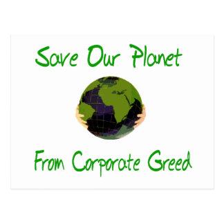 Cartão Postal Planeta incorporado