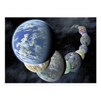 Cartão Postal Planetas