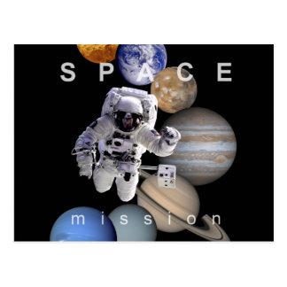 Cartão Postal planetas do sistema solar da missão espacial do