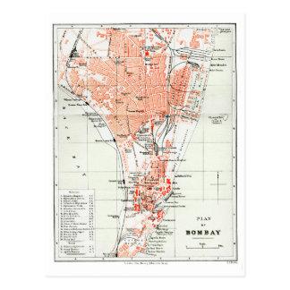 Cartão Postal Plano de Bombaim - India britânico