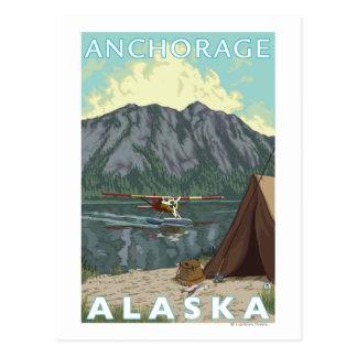Cartão Postal Plano de Bush & pesca - Anchorage, Alaska