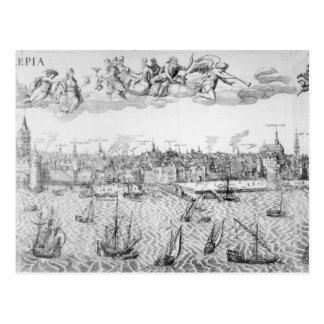 Cartão Postal Plano de cidade de Antuérpia, 1549