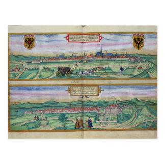 Cartão Postal Plano de cidade de Viena e de Buda, 'de Civitates
