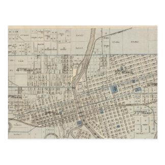 Cartão Postal Plano de Des Moines, o Condado de Polk, Iowa