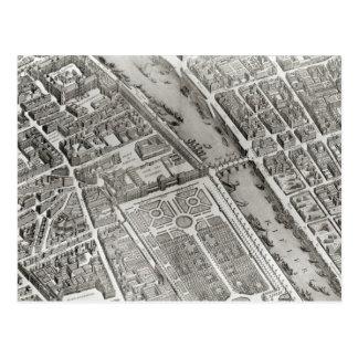 Cartão Postal Plano de Paris, conhecido como 'o Plano de Turgot'