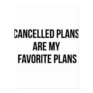 Cartão Postal Planos cancelados
