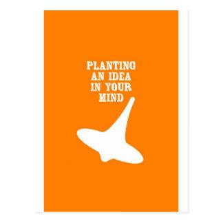 Cartão Postal Plante uma ideia em sua mente