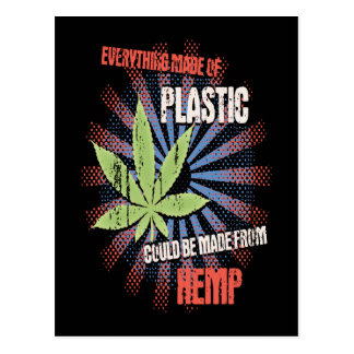 Cartão Postal Plástico do cânhamo