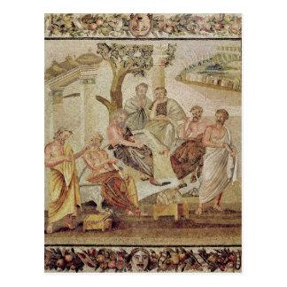 Cartão Postal Plato que conversa com seus alunos