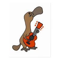 Platypus Pato-Faturado engraçado que joga a