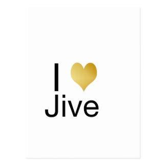 Cartão Postal Playfully o coração elegante de I Jive