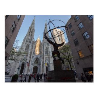 Cartão Postal Plaza de 30 Rockefeller em NYC