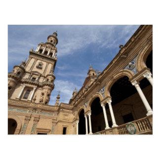 Cartão Postal Plaza de Espana, Sevilha, a Andaluzia, espanha
