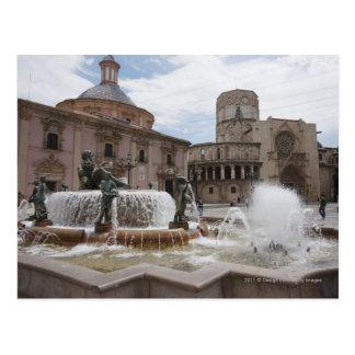Cartão Postal Plaza De La Virgin e Basílica De Virgen