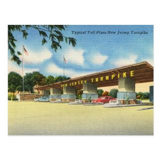Cartão Postal Plaza de pedágio, vintage do Turnpike de
