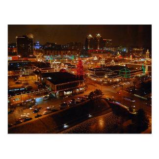 Cartão Postal Plaza do clube, Kansas City, luzes do feriado