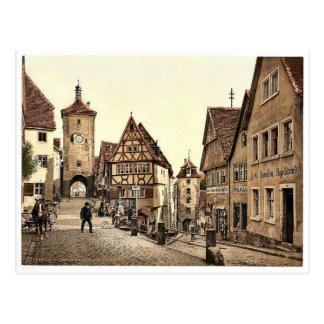 Cartão Postal Ploenlein, Rothenburg (isto é der Tauber) do ob,