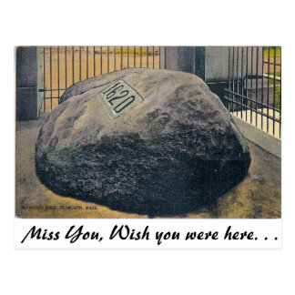 Cartão Postal Plymouth Rock, Plymouth, Massachusetts