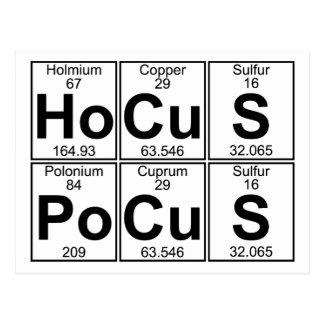 Cartão Postal Po-Cu-s do Ho-Cu-s (pocus) do hocus - cheio