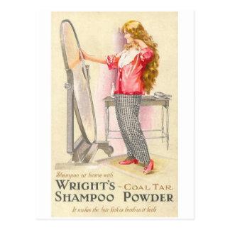 Cartão Postal Pó do champô de Wrights