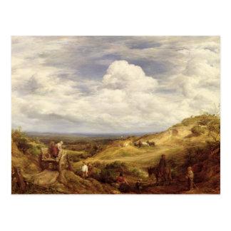 Cartão Postal Poços de areia, charneca de Hampstead, 1849