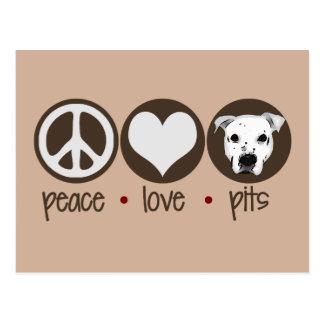 Cartão Postal Poços do amor da paz