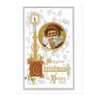 Cartão Postal Pode seu Natal ser vintage feliz do Victorian