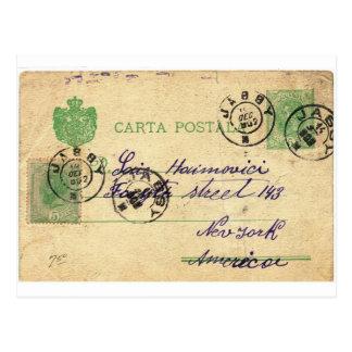 Cartão Postal Pode você decifrar esta escrita do vintage?