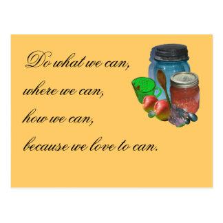 Cartão Postal Pode você pode, para fazer o que nós podemos, onde