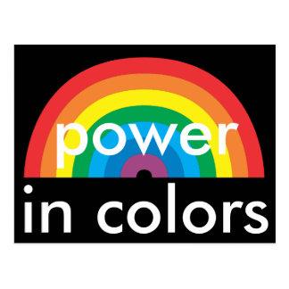 Cartão Postal poder nas cores