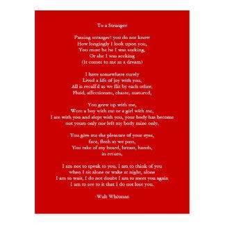 Cartão Postal Poema 4 do Arte-Amor do Cartão-Amor
