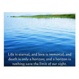 Cartão Postal Poema sobre a morte - citações afligindo-se