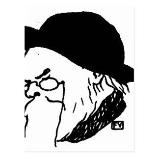 Cartão Postal Poeta francês Paul Verlaine da máscara de Le Livre