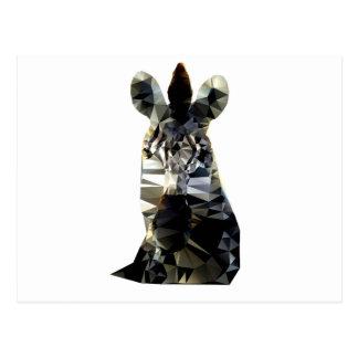 Cartão Postal Poli animal africano principal da zebra baixo