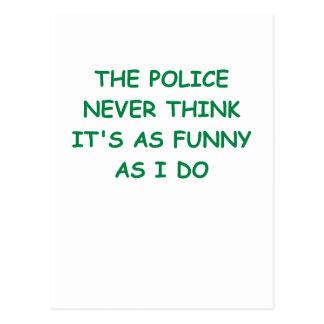 Cartão Postal polícia