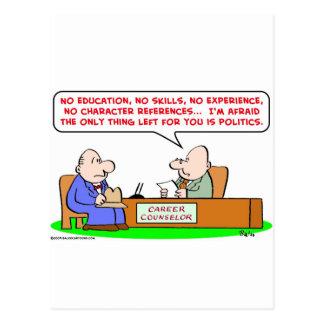 Cartão Postal política do conselheiro de carreira