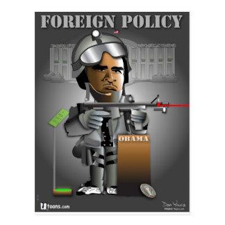 Cartão Postal Política externa de Obama