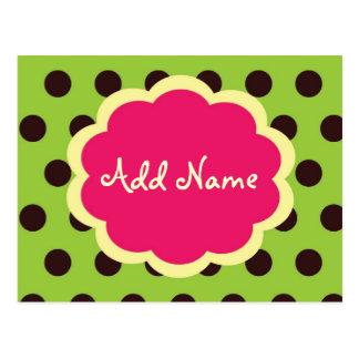 Cartão Postal PolkaDot Funky, fá-lo você mesmo obrigado você