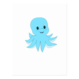 Cartão Postal Polvo azul bonito