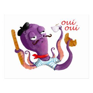 Cartão Postal Polvo francês